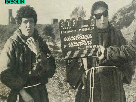 """Pasolini ha cominciato a girare """"Uccellacci e uccellini"""" 21 ottobre 1965"""
