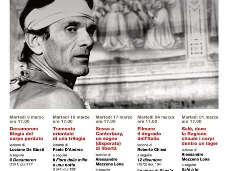 """""""Conoscere il cinema di Pasolini"""": ultimo ciclo di lezioni al Centro Studi dal 3 al 31 marzo 2020"""