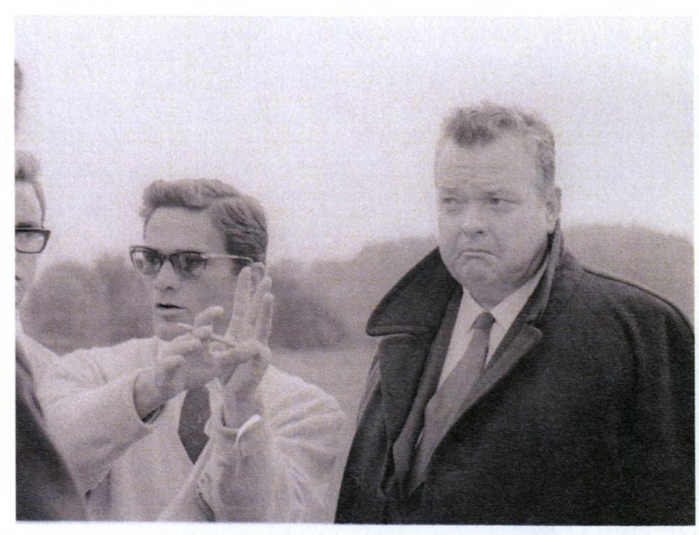 Pier Paolo Pasolini dirige Orson Welles enl film 'La ricotta' 1963