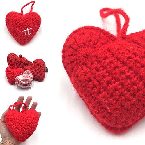 Coeur senteur Ecarlate, création originale Talichic fait main France