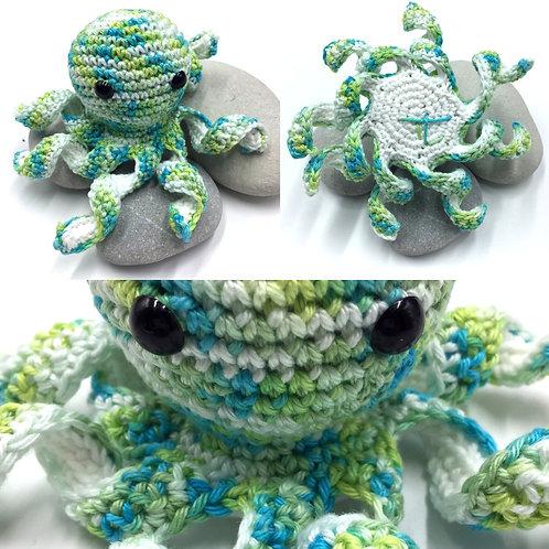 Mini pieuvre Végétale, création originale Talichic fait main France