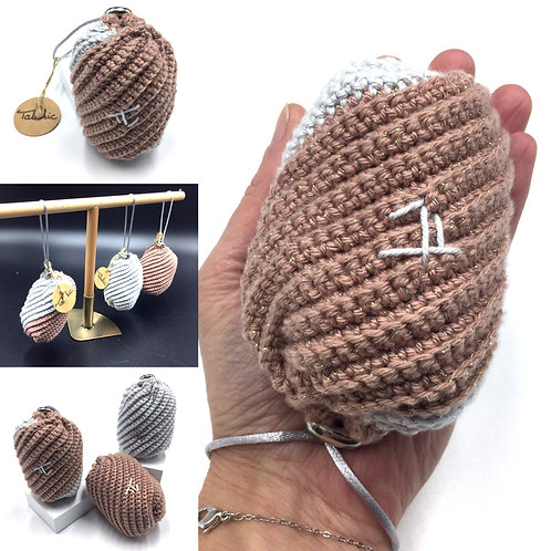 Sac bourse Oléronette Agate, création originale Talichic crochetée à la main, made in France