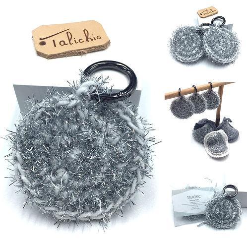 Porte clés Lune, création originale Talichic fait main France