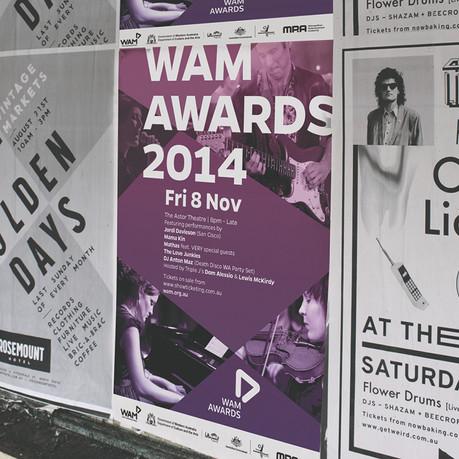 WAM Awards bill poster