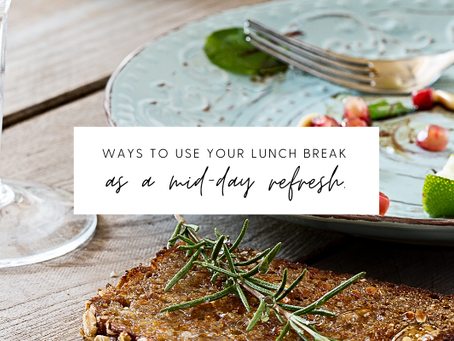 A Lunch Routine for a Mid-Day Refresh