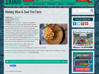 miso making with KBOO radio