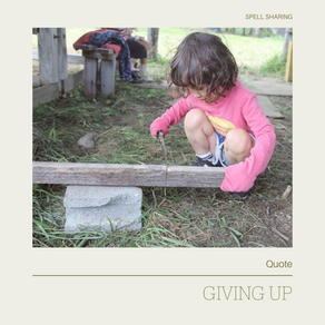 Quote: Giving up