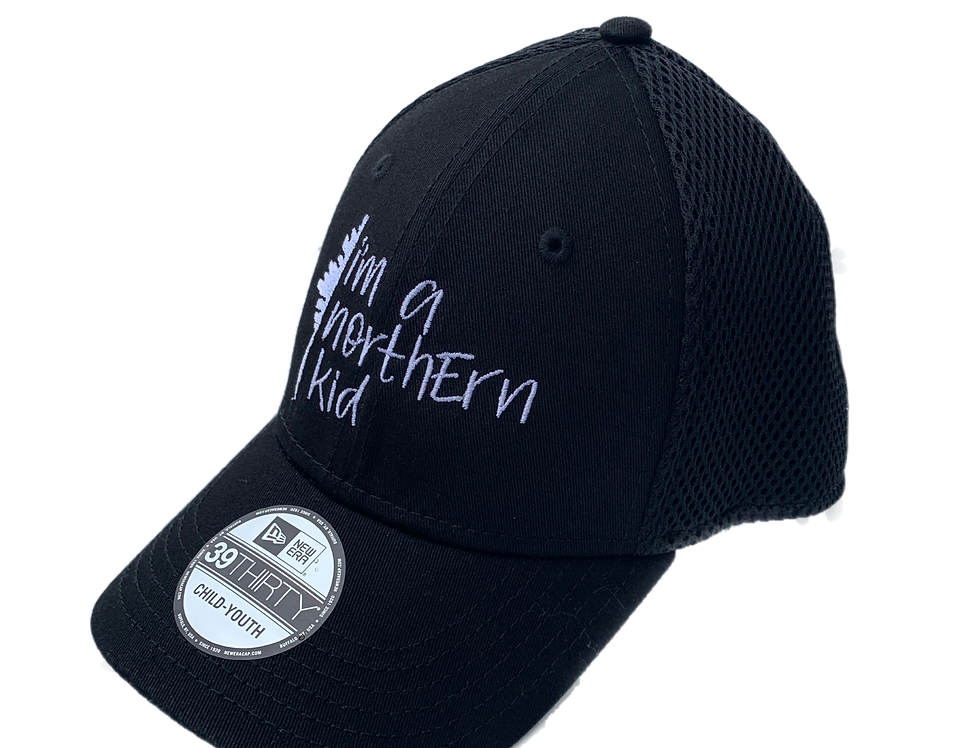 New Fitted Toddler/Youth moi j'viens du nord/I'm a northern kid ball cap