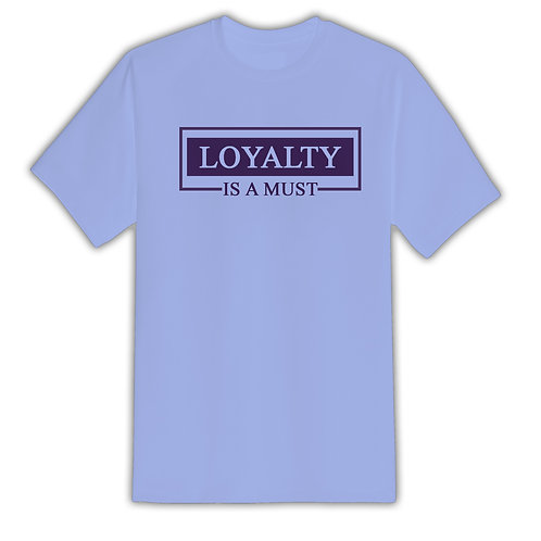 All For Us Loyalty Tee- Light Blue/Purple