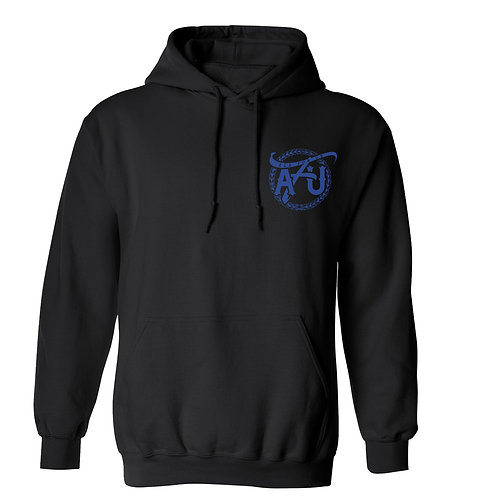 All For Us Classic Hoodie- Black/Blue