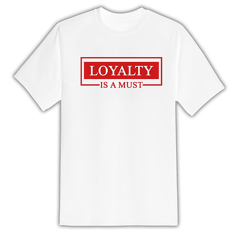 All For Us Loyalty Tee- White/Red