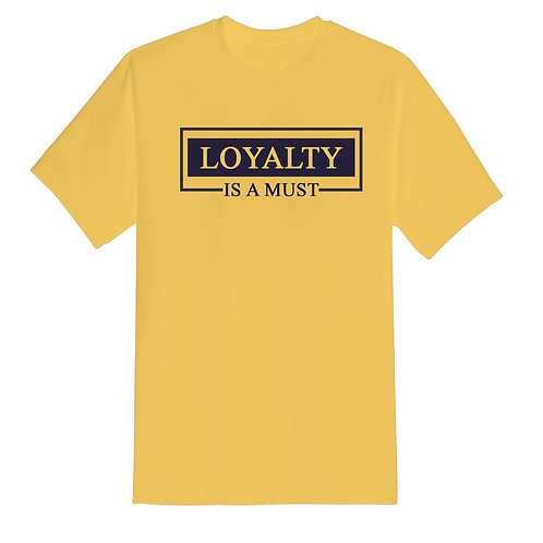 All For Us Loyalty Tee- Banana/Blue