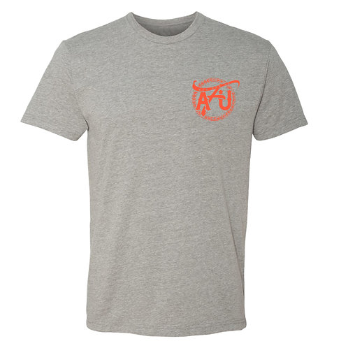 All For Us Classic Tee- Gray/Orange
