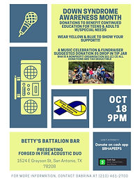 Music Celebration & Fundraiser for Down Syndrome Awareness Month