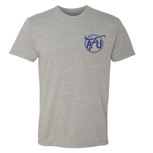 All For Us Classic Tee- Gray/Blue
