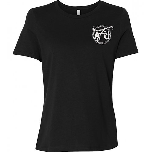 (Women's) All For Us Classic Tee- Black/White