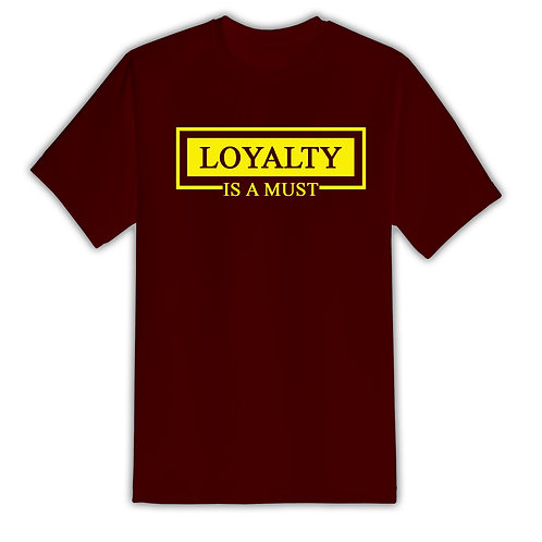 All For Us Loyalty Tee- Burgundy/Yellow