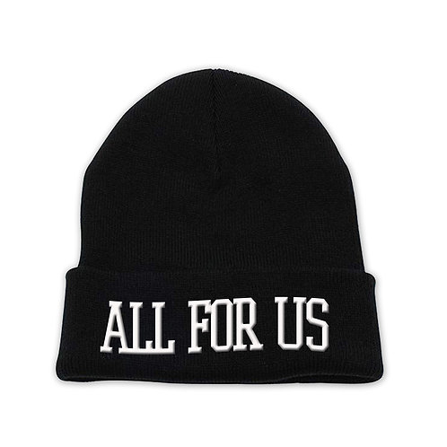 All For Us Beanie Hat-Black