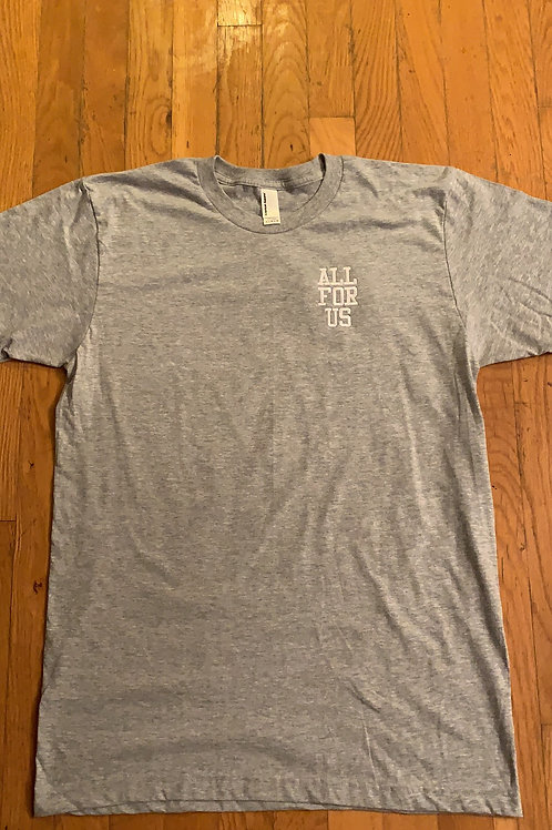 All For Us Embroidered Tee (grey/white)