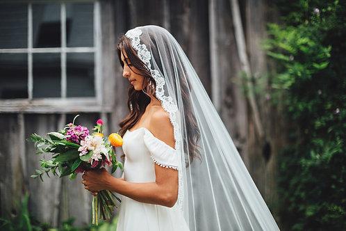 MARIPOSA VEIL- Long Mantilla Wedding Veil or Drop Veil