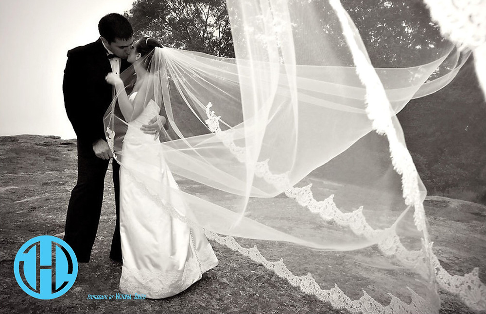 Classic veil, French lace veil, Chantilly lace veil, Cathedral length veil