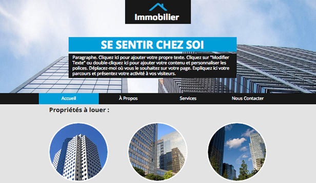 Immobilier website templates – Immobilier