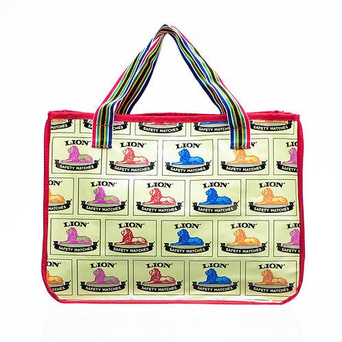 PVC Shopper Bag - Yellow Lion
