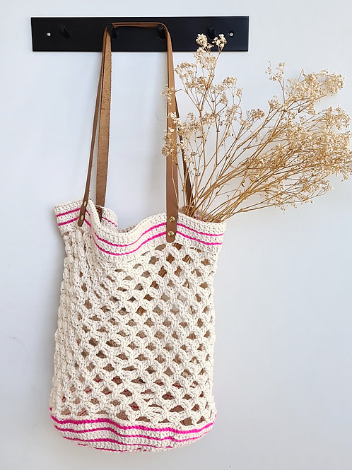 Hand-made Crocheted Tote Bag