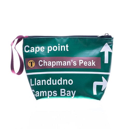 PVC Zip Pocket Bag - Green Street Sign