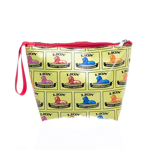 PVC Zip Pocket Bag - Yellow Lion
