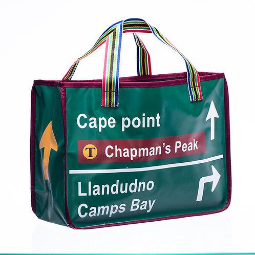 PVC Shopper Bag - Green Road Sign