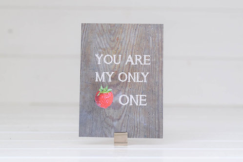 "Postkarte ""Only One"""