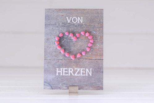 """Postkarte """"von Herzen"""""""