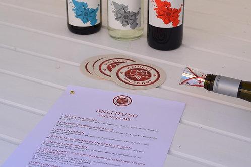 Kleine Weinprobe für Zuhause