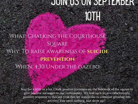 2020 Suicide Prevention Chalking Event