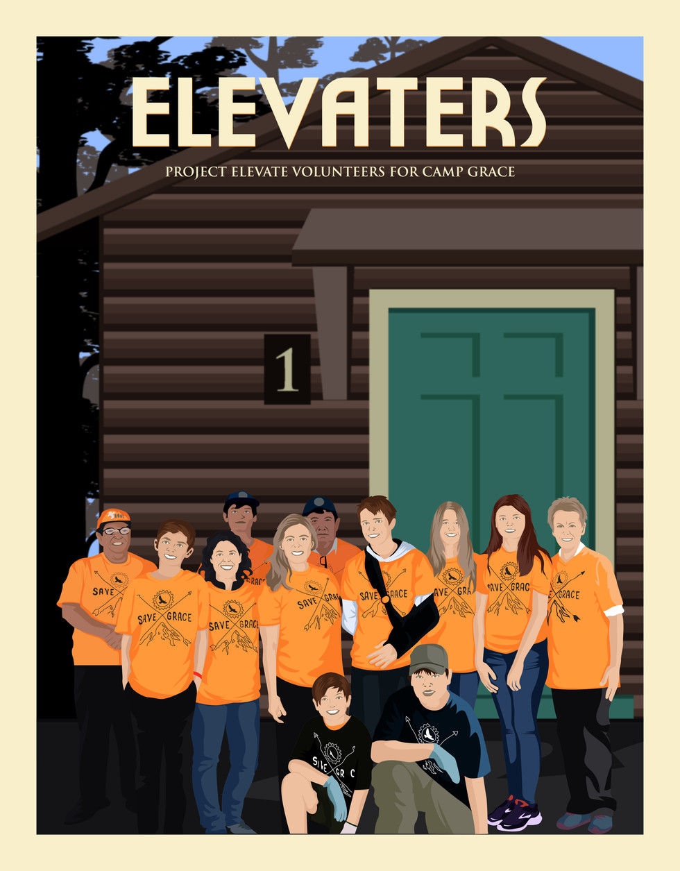 """""""Elevaters"""" are Project Elevate and Camp Grace Volunteers"""