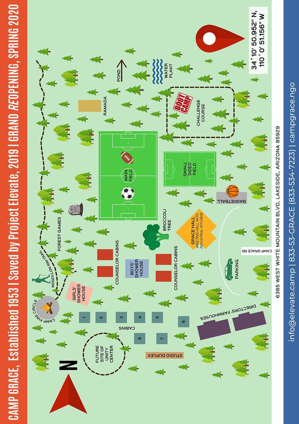 Camp Grace site map (vertical)