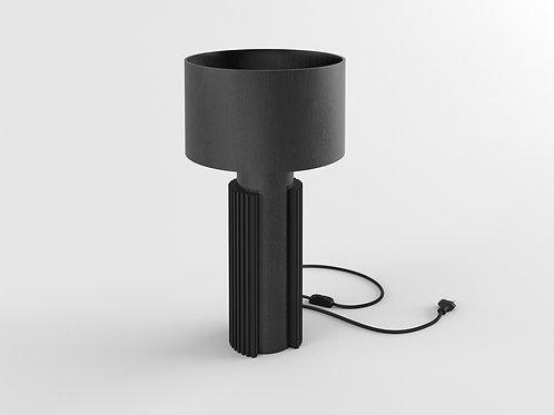 Bark Desk Lamp black oak / black