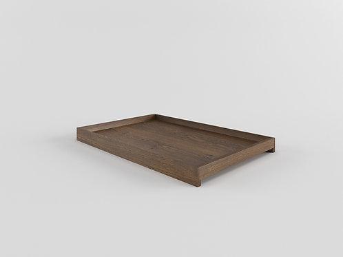 Solid Tray smoked oak