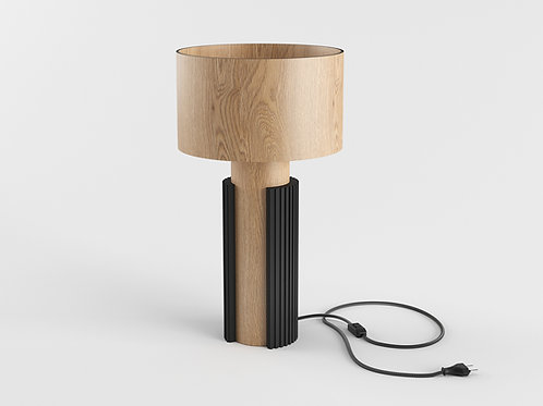 Bark Desk Lamp natural oak / black