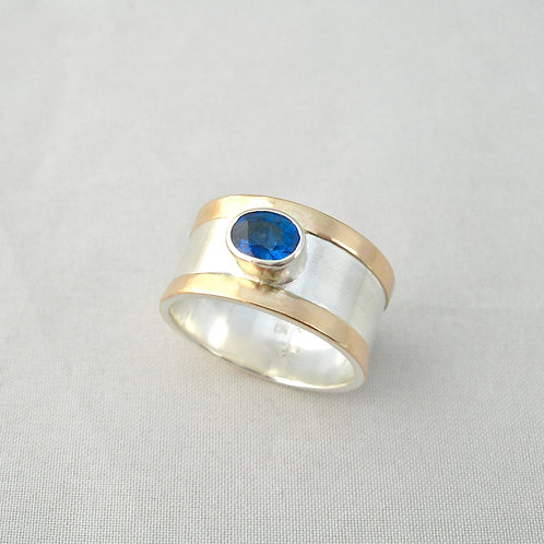 Sapphire Silver & Gold Ring