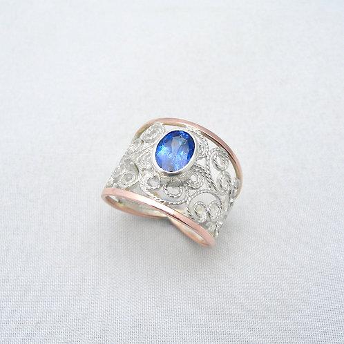 Tanzanite Filigree Ring
