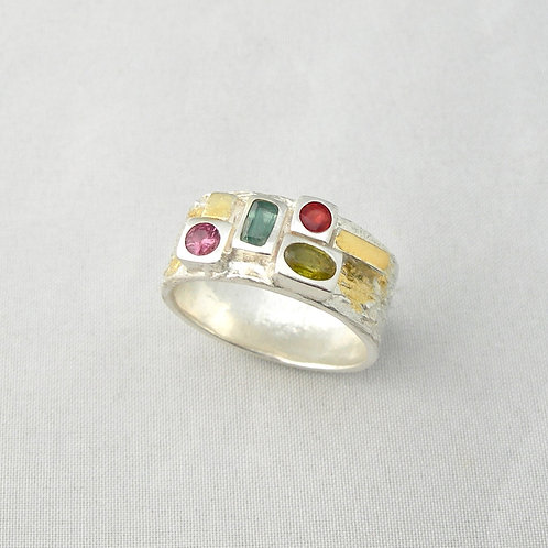 Fine Silver Multi-Aspect Ring