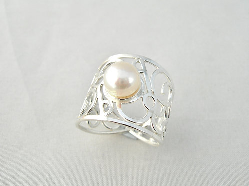 Pearl Filigree Ring