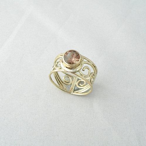 Sunstone Gold Ring