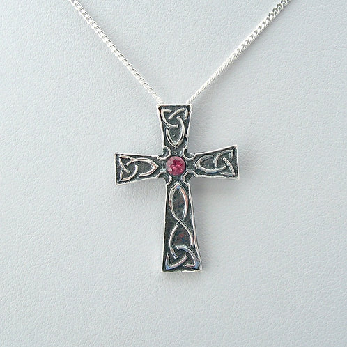 Spinel Cross Pendant