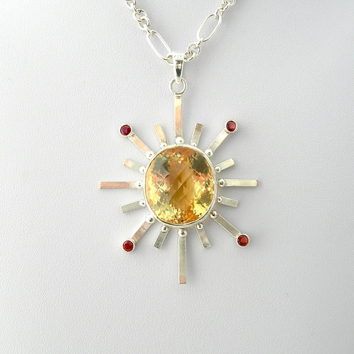 Citrine Starburst Necklace