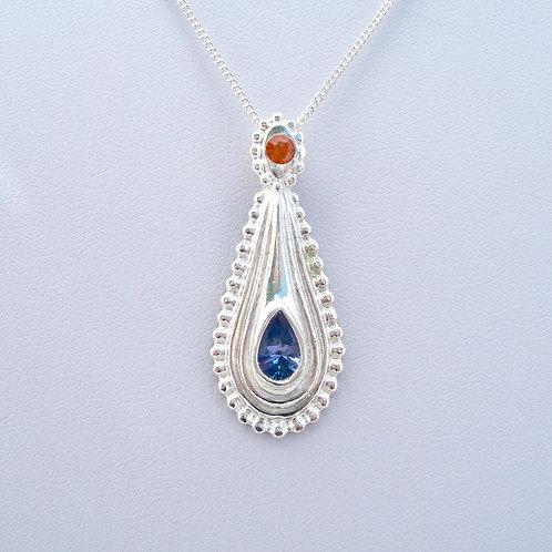 Tanzanite & Orange Sapphire Pendant