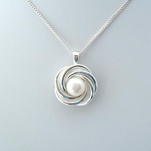 Pearl Mobius Pendant