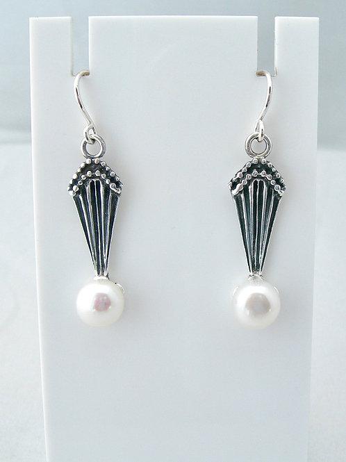 Fine Silver Pearl Earrings